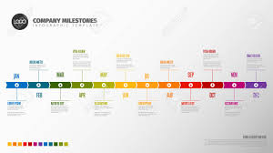 Timeline Photo Template Full Year Timeline Template With All Months On A Horizontal Time
