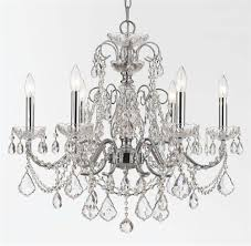 6 lights wrought iron crystal chandelier