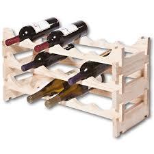 vinrack wooden wine rack 18 bottle natural pine