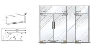 4 glass door patch fitting hardware construction and