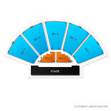 Seating Chart Cuthbert Amphitheater Vivid Seats