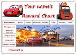 Personalised A3 Cars Mcqueen Potty Toilet Reward Chart