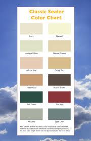 Classic Sealer Color Card Desert Branddesert Brand