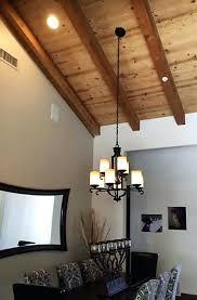 striking installing chandelier vaulted ceiling image design