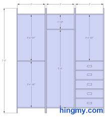 closet design dimensions. Standard Closet Measurements   This Design Is Meant Be As Versatile Possible. It Offers Dimensions