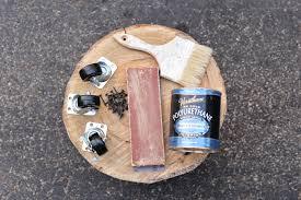tree stump side table supplies