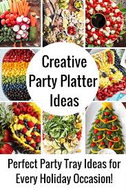 these party platter ideas will blow your mind not your average veggie tray or fruit tray learn how to create themed vegetable and fruit trays for your