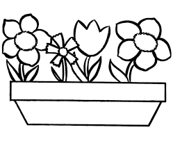 Preschool Coloring Pictures Of Flowers Printable Flower Coloring
