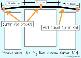 How to make DIY Bay Window Curtain Rods for your home using three easy to  find