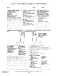 Diabetic Foot Exam Chart Diabetes Foot Exam Form Fill Out And Sign Printable Pdf