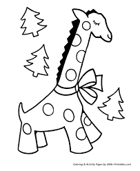 Small Picture Easy Pre K Christmas Coloring Pages Giraffe and little Christmas