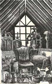 Attic drawing Old Wooden Attic By Greg Burns Oklahoma State Art Collection Oklahoma State Art Collection