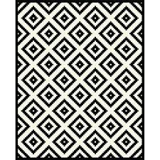 black and white geometric rug. chequers_1 black and white geometric rug e