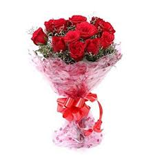 flbay red roses bouquet fresh flowers in cellophane wrapping bunch of 8