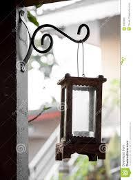 De Lamp Van Het Tuinhuis Verfraait Wijnoogst Stock Foto Afbeelding