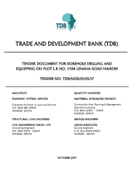 Fillable Online Trade And Development Bank Tdb Fax Email