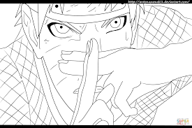 sasuke naruto and sakura in naruto coloring page