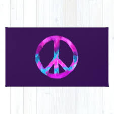 peace sign rug purple turquoise watercolor tie dye on by peace sign rug