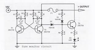 fuse monitor circuit fuse monitor circuit schematic