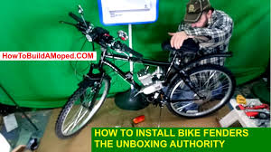 how to install bike fenders how to install bike mud guards how to build a motorized