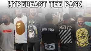Gta 5 Designer Outfits Hypebeast Fuccboi Designer Streetwear Tee Pack Gta5
