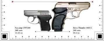 Handgun Comparison Chart By Los Los Pistol Comparison Charts