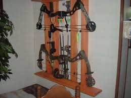 14372 bow display rack from compound bow wall