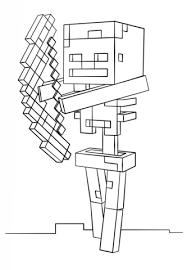 Minecraft Skeleton Met Boog Kleurplaat Gratis Kleurplaten Printen
