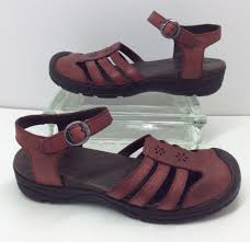 keen paradise red leather adjule strappy comfort sandals womens 7 5 38 eur
