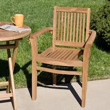 Teak Wood Patio Chair Signature Hardware