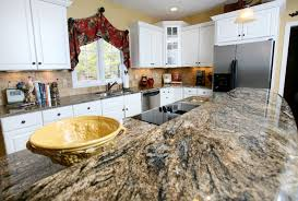 White Granite Kitchen Countertops Pictures Sensa Crescent Veil - Granite kitchen