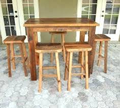 bar height pub table bar height table and stools reclaimed lumber bar height table and matching