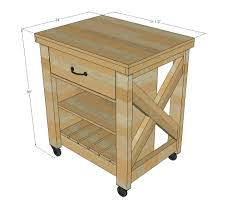 Rolling Kitchen Island Table Ana White Build A Rustic X Small Rolling Kitchen Island Free