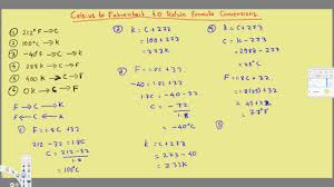 Celsius To Fahrenheit To Kelvin Formula Conversions Temperature Units C To F To K