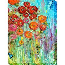 multi color poppies patio canvas outdoor indoor wall art