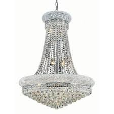 elegant lighting primo chrome fourteen light 28 inch chandelier with royal cut clear crystal