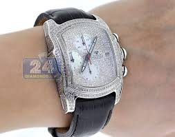 aqua master bubble 7 00 ct iced out diamond mens watch