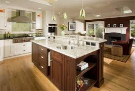 ... Breakfast Bar Top Kitchen Island Height Table Raised With Ideas Crosley  Drop Leaf Design Islands And ...