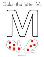 Just click to print out your copy of this color alphabet m coloring page. Letter M Coloring Pages Twisty Noodle