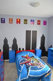 Superhero Boys Room Finished Superhero Avengers Room We Painted A Cityscape On The