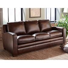 leather sofa chair. Dreamliner Top Grain Leather Queen Sleeper Sofa - Brown Chair