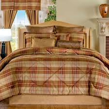 delectably yours decor yukon lodge plaid bedding comforter set by victor mill made in the usa