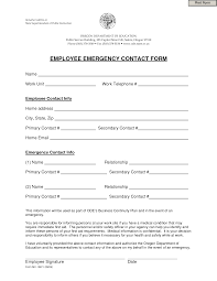In Case Of Emergency Form For Employees Free Employee Emergency Contact Form 201309 Word Inherwake