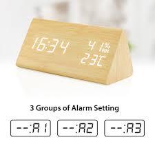 <b>Wooden Alarm Clock</b>, <b>Wood LED Digital</b> Desk Clock, UPGRADED ...