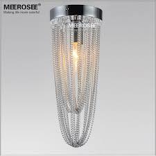 meerosee 4 7 inch small chandelier light fixture mini aluminum chain lamp aisle hallway porch corridor staircase light md12185 ceiling light small light