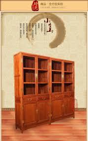 Großhandel Palisander Mahagoni Möbel Chinesische Antike Bücherregal Doppeltür Glas Vitrine Holz Bücherregal Schließfach Schließfach Von Xwt5242