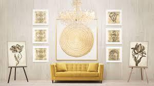 wall art decor ideas chandelier wonderful wall art gold