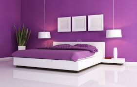 bedroom purple and white. Download Purple And White Bedroom Stock Illustration. Illustration Of Horizontal - 10983494 P