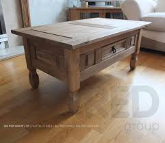 Mexican Pine Coffee Table Corona Mexican Waxed Solid Pine Rustic Coffee Table With Drawer Ebay