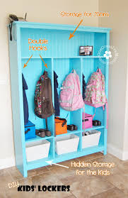 diy storage lockers for kids no mudroom no problem onecreativemommy